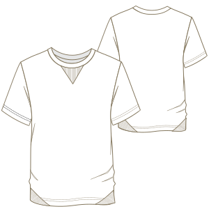 Dressmaking patterns for everybody T-Shirt 7214 MEN T-Shirts