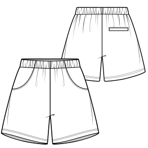 All our patterns have been tested and they are prepared for garments production Bermudas Tennis 648 MEN Shorts