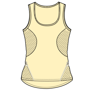 All our patterns have been tested and they are made for garments production Top tank 6887 LADIES T-Shirts