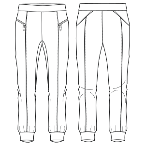 All our patterns have been tested and they are prepared for garments production Sport pants 732 LADIES Trousers