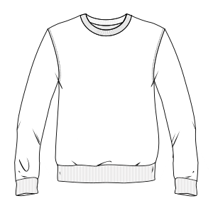 All our patterns have been tested and they are prepared for garments production Sweatshirt 6963 MEN Sweatshirt