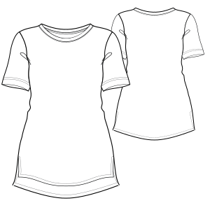 All our patterns have been tested and they are made for garments production T-Shirt 2997 LADIES Large Sizes