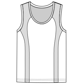 Select from a offer of costume patterns Runing top tank 6829 MEN T-Shirts