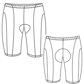 Browse our  sewing patterns Cycling Short 2852 MEN Trousers