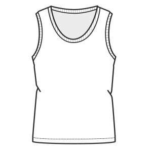 Choose your   sewing patterns Sleeveless T-Shirt 7069 LADIES T-Shirts