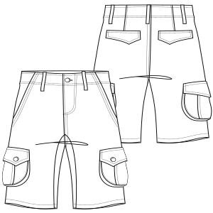 Easy dress patterns for  sew Bermudas 744 MEN Shorts