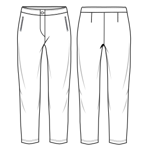All our patterns have been tested and they are prepared for garments production Trousers 7025 LADIES Large Sizes