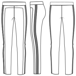 All our patterns have been tested and they are prepared for garments production Leggings 6049 LADIES Trousers