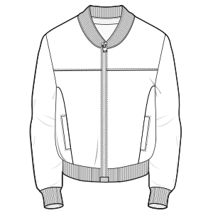 All our patterns have been tested and they are ready for garments production Sport Jacket 6729 MEN Jackets