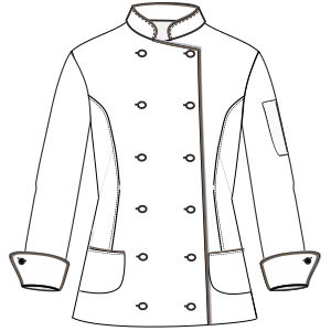 Select from a huge variety of costume patterns Chef Jacket W 6803 UNIFORMS Shirts