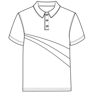 Dressmaking patterns for professionals Polo 3051 MEN T-Shirts