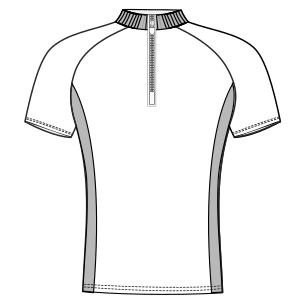 Dressmaking patterns for professionals Cyclist Maillot WC 6023 MEN T-Shirts