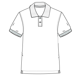 All our patterns have been tested and they are prepared for garments production Polo Lac 7412 MEN T-Shirts