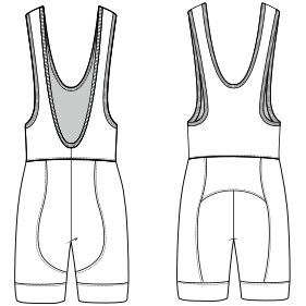 All our patterns have been tested and they are ready for garments production Cycling suit 7045 MEN One-Piece