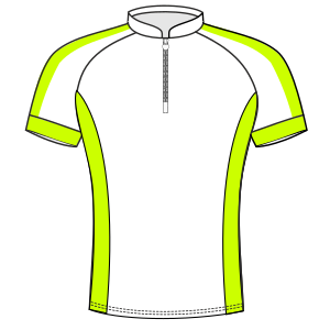 All our patterns have been tested and they are prepared for garments production Cyclist Maillot 6022 MEN T-Shirts