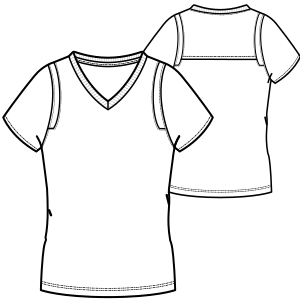 Browse our shop for sewing patterns Football T-Shirt 3002 LADIES T-Shirts