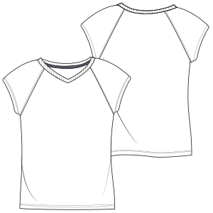 Browse our  sewing patterns T-Shirt 7073 GIRLS T-Shirts