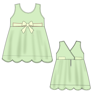 All our patterns have been tested and they are ready for garments production Poplin Dress  0013 GIRLS Dresses
