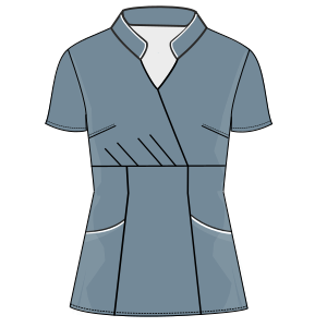 All our patterns have been tested and they are ready for garments production Medical scrubs 3079 UNIFORMS Shirts