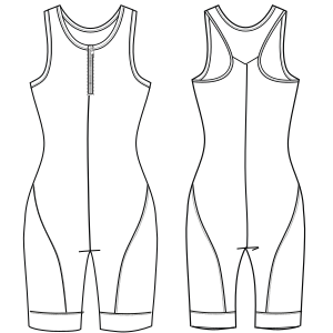 All our patterns have been tested and they are made for garments production Sport suit 6982 LADIES One-Piece