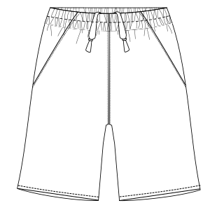 All our patterns have been tested and they are prepared for garments production Bermudas football 2975 MEN Shorts