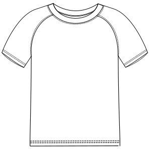 Dressmaking patterns for everybody Football T-shirt 2847 MEN T-Shirts
