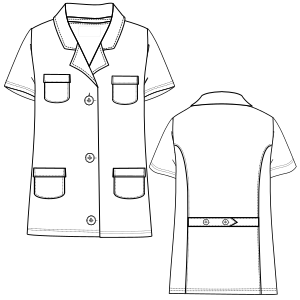 All our patterns have been tested and they are made for garments production Smock MC 2898 UNIFORMS One-Piece