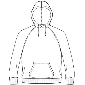 Browse our  sewing patterns Hoodie sweatshirt 4688 MEN Sweatshirt