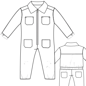 Browse our  sewing patterns Romper 6818 BOYS One-Piece