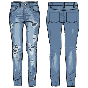 Choose your   sewing patterns Jean Trousers 7035 LADIES Trousers