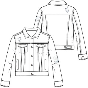 All our patterns have been tested and they are ready for garments production Jean jacket 7040 LADIES Jackets