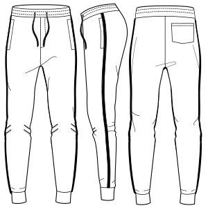 All our patterns have been tested and they are prepared for garments production Jogger pants 7120 MEN Trousers