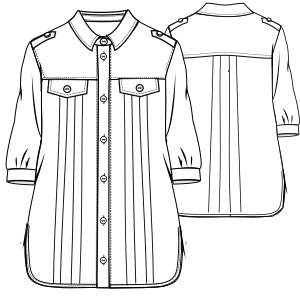 Browse our catalogue for sewing patterns Shirt 774 LADIES Shirts