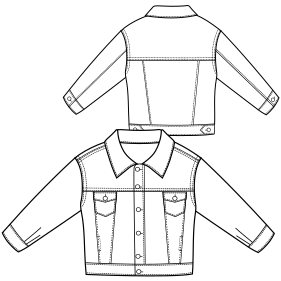 All our patterns have been tested and they are ready for garments production Jean Jacket 781 BOYS Jackets