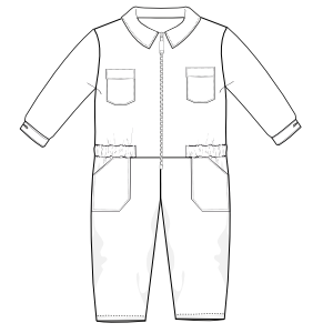 Choose your   sewing patterns Overall UNIFORMS One-Piece