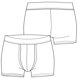 All our patterns have been tested and they are prepared for garments production Underware 7241 MEN Underwear