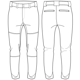 All our patterns have been tested and they are prepared for garments production Softball pants 7173 BOYS Trousers