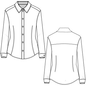 All our patterns have been tested and they are ready for garments production Shirt 801 LADIES Shirts