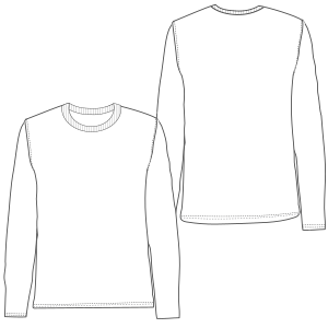 Browse through a offer of costume patterns Long sleeve t-shirt 645 MEN T-Shirts