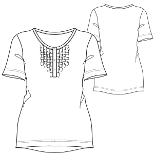 Browse our  sewing patterns T-Shirt 717 LADIES T-Shirts