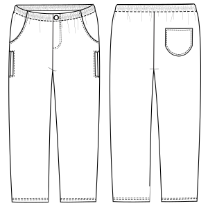 Browse our  sewing patterns Trousers 633 MEN Trousers
