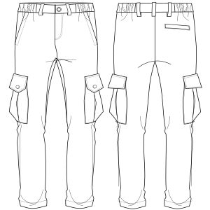 Browse our  sewing patterns Cargo pants 7184 LADIES Trousers