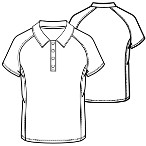 Browse our catalogue for sewing patterns Polo 695 MEN T-Shirts