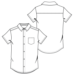 Easy dress patterns for  sew Shirt 800 MC MEN Shirts