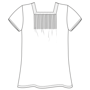 All our patterns have been tested and they are prepared for garments production T-Shirt 764 LADIES T-Shirts