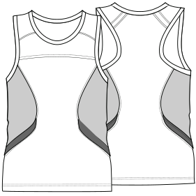 Easy dress patterns for  sew Sleeveless T-Shirt 7102 MEN T-Shirts