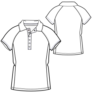 Choose your   sewing patterns Polo T-Shirt 693 LADIES T-Shirts