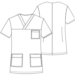 Browse through a offer of dress patterns Nurse Jacket 3033 UNIFORMS Shirts