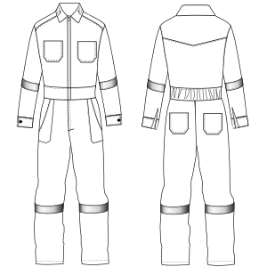 All our patterns have been tested and they are prepared for garments production Romper 6953 UNIFORMS One-Piece
