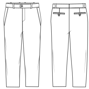All our patterns have been tested and they are made for garments production Trousers 6817 BOYS Trousers